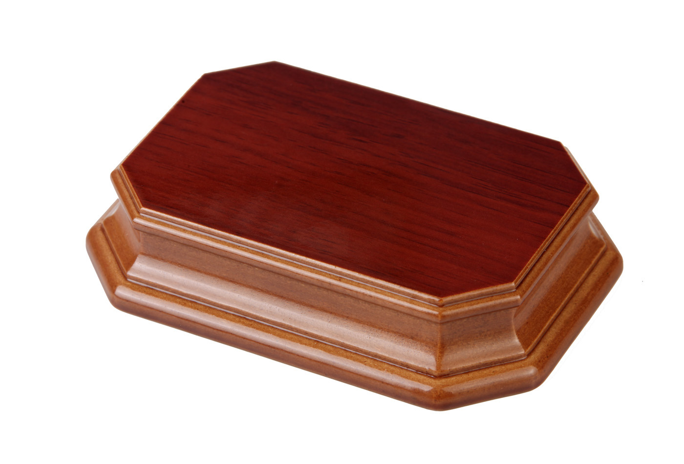 Octagonal natural oak pedestal