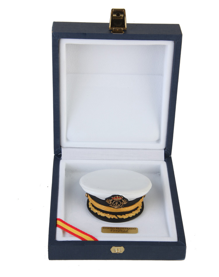 Plate cap Spanish Navy officer