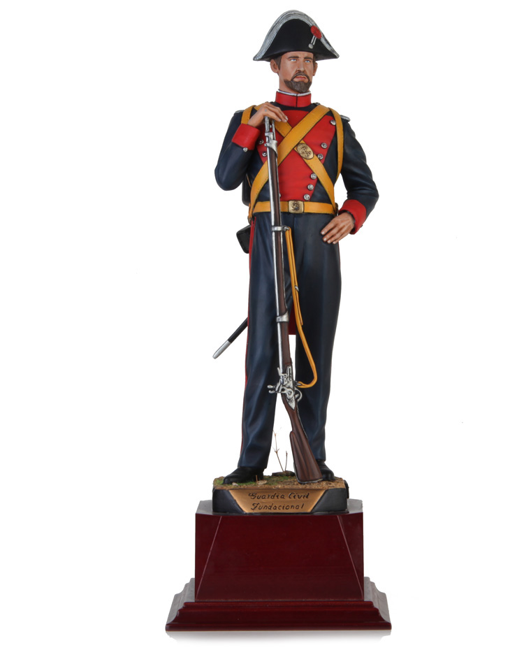 Civil Guard foundational time 1844. Size 29,5 cm